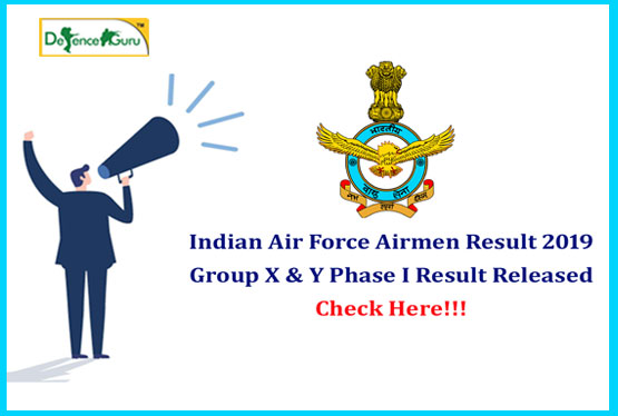 Air force Group X Y Result 2020