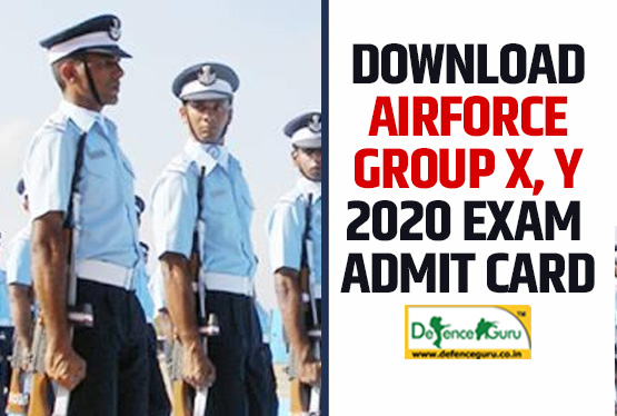 airforce xy group 2020 admit card
