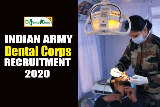 Army Dental Corp Recruitment 2020