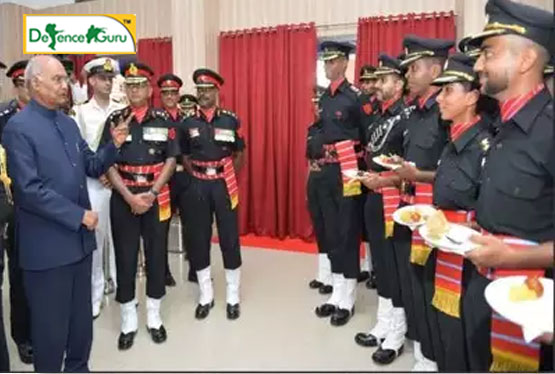 President Of India Awards Colours To Corps