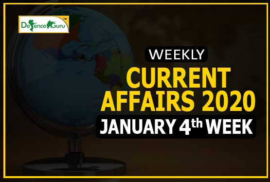 Current Affairs January 2020 4th Week