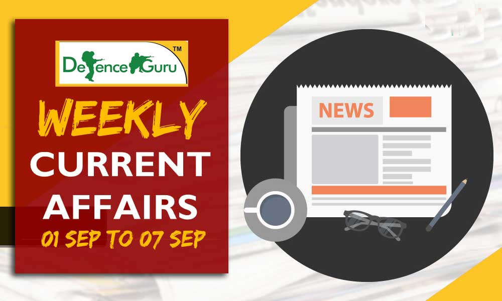 Weekly Current Affairs September 2018