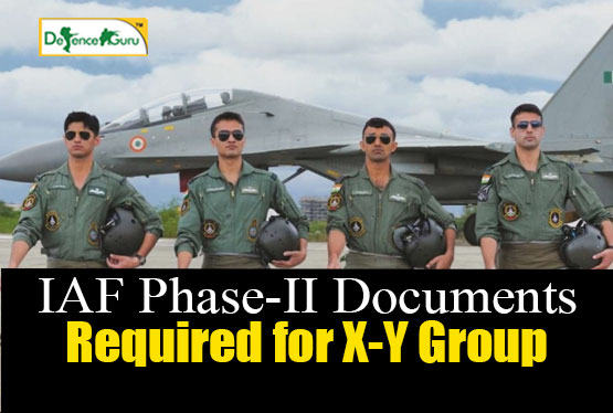 Documents Required For Airmen Phase II