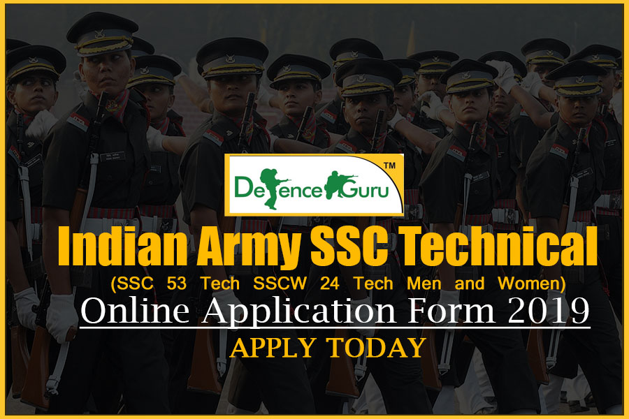 Indian Army SSC Technical Online Application Form 2019