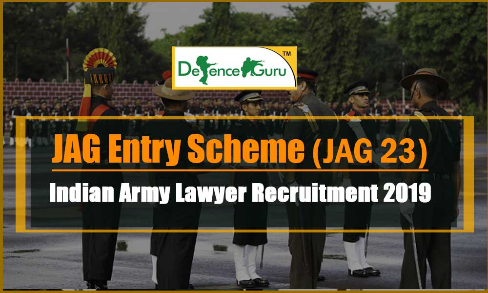 JAG Entry Scheme 23 Notification 2019