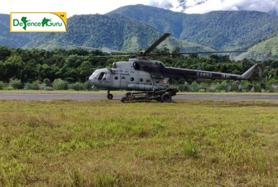 Mi17 Helicopter Joins Hand With Indian Army