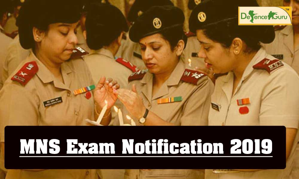 BSc Military Nursing Service (MNS) Course Notification 2019
