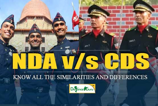 NDA and CDS Officers Similarities and Differences
