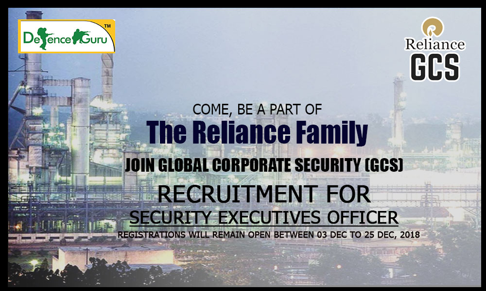 Reliance Global Corporate Security Executives officer Recruitment