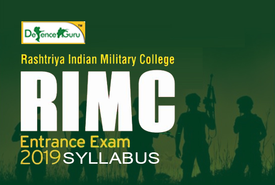RIMC Entrance Exam Syllabus