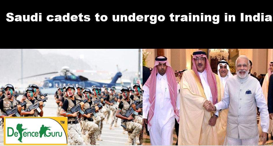 Saudi arabian cadets for training in India