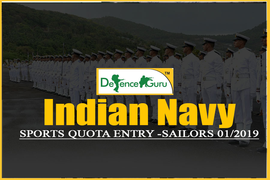 Indian Navy Sports Quota Entry For Sailors