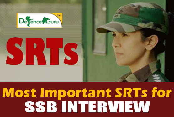 SRTs for SSB Interview