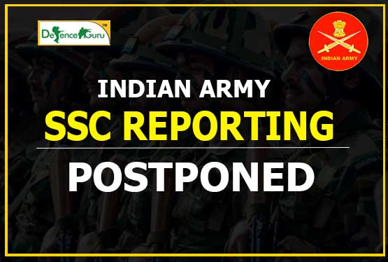 Army SSC Reporting Postponed