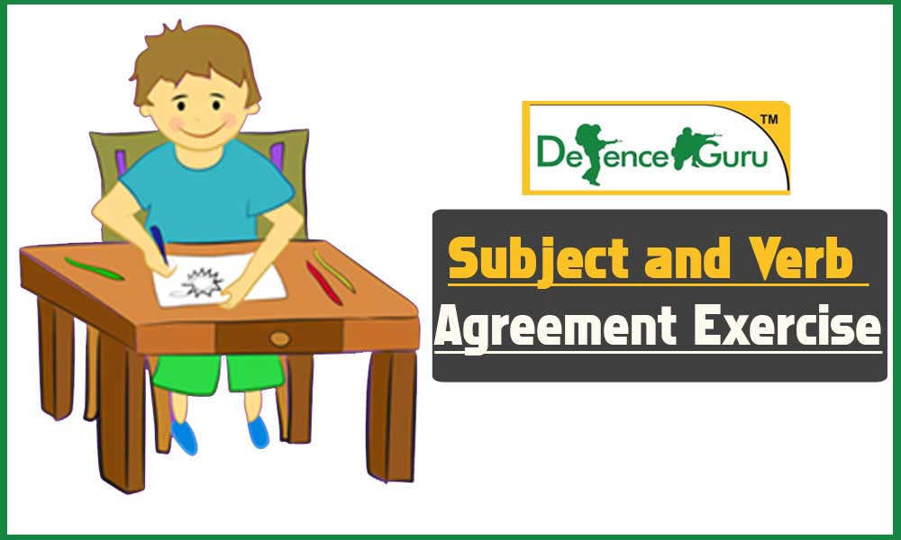 Subject and Verb Agreement Exercise