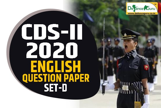 CDS-2 2020 English Question Paper - SET D